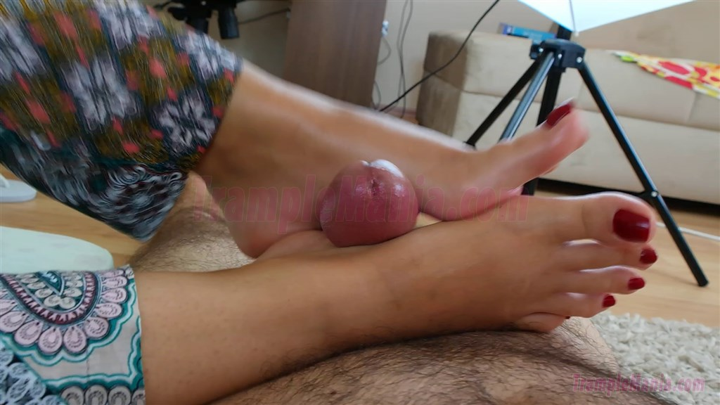 Blonde Kathy Sweet is giving a footjob to a foot fetishist  1354820